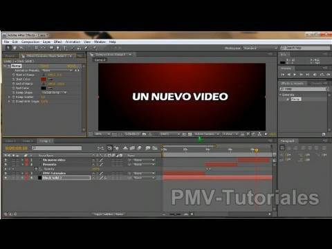 Como crear un Intro en menos de 5 minutos con After effects
