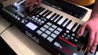 Akai Mpk49 fader scratch +beat +live performance