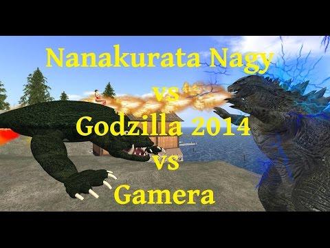 Nanakurata vs Godzilla 2014 vs Gamera