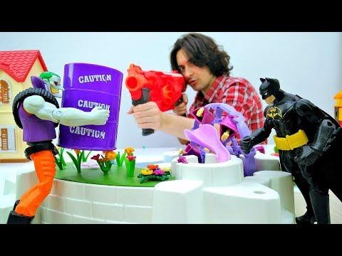 Новое изобретение Джокера. Бэтмен возвращает в мир краски.