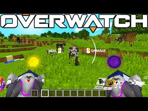 OVERWATCH IN MINECRAFT!? NEW HERO ADDED + WITHER 1V1!