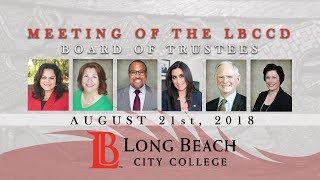 LBCCD - Board of Trustees Meeting - August 21, 2018