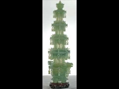 0 Chinese Carved Green Jade Pagoda ga1001x.wmv