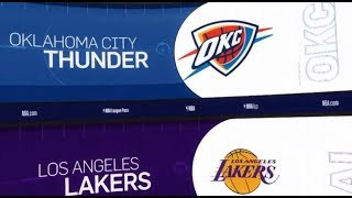 Oklahoma City Thunder vs LA Lakers Game Recap | 1/2/19 | NBA