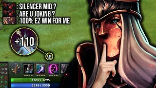 OLD BUT GOLD..!! Carry Mid Silencer +110 INT Steal by Waga 7.21d | Dota 2