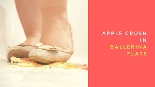 Apple crush in ballerina flats