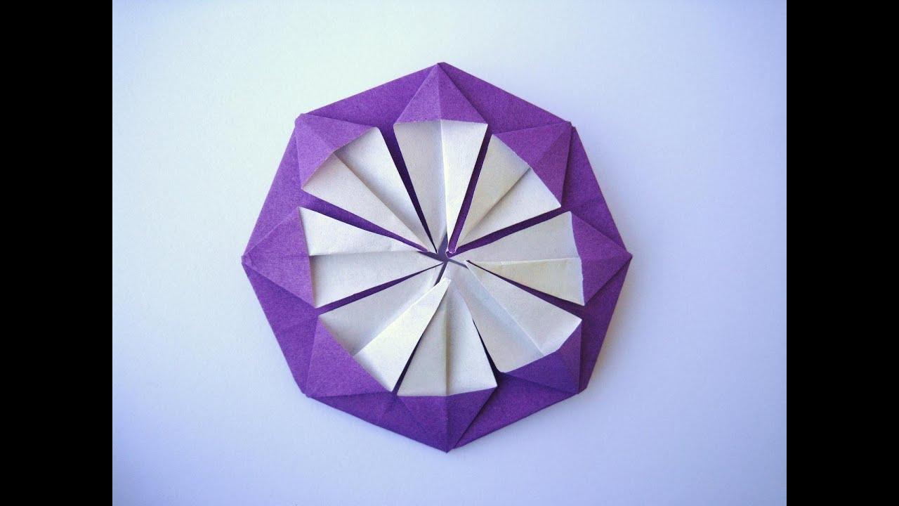 すべての折り紙 折り紙 ブーケ 折り方 簡単 : 折り紙 ダリアの折り方 こども ...