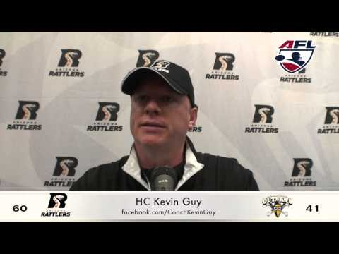 5-16-2015; Coach Kevin Guy Post Game, Arizona Rattlers Vs L.V. Outlaws