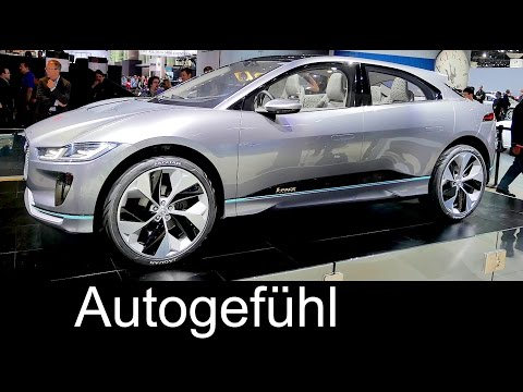Jaguar i-PACE EV SUV review motor show L.A. walkaround 500 km range