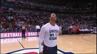 Derrick Rose gets standing ovation in Chicago - USA vs Brazil 2014