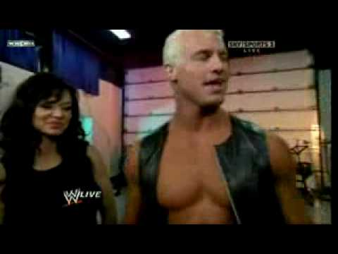 Doplh Ziggler and Candice Michelle backstage