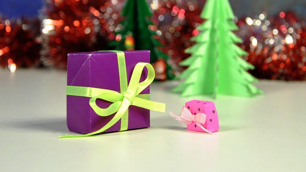 Как сделать новогодний подарок из бумаги видео