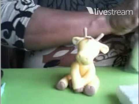 Aula Safari  Girafa - Biscuit / Porcelana Fria