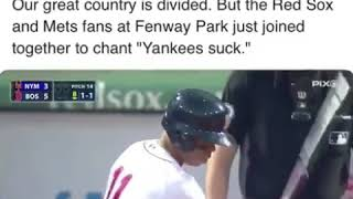 Mets and red Sox fans chant yankees suck at Fenway Park (September 15th, 2018)