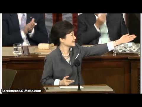 South Korean President Speech Before U.S. Congress. Part 1 From May 8, 2013