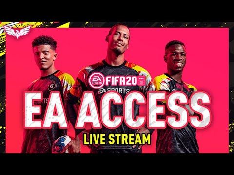 *LIVE* FIFA 20 EA ACCESS HYPE!!! PLAYING FIFA 20!!! Road to Glory Begins!!!