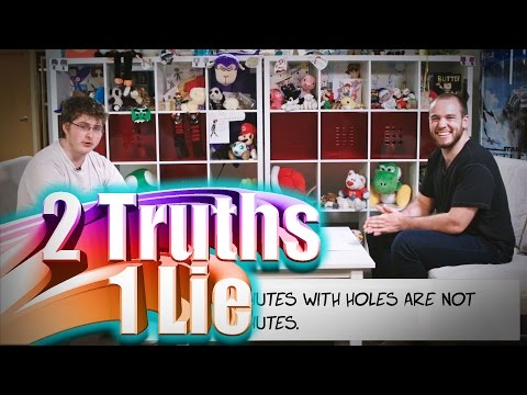 ROSS IS A LIAR!! - Two Truths and One Lie w/ Ross and Barney