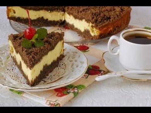 Рецепт .Торт творожный с лимонным кремом и шоколадом.
