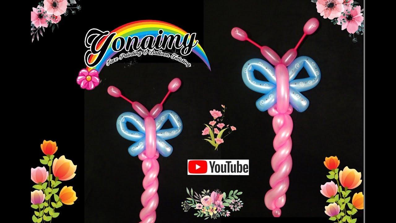 Mariposa linda y facil cute and easy butterfly balloon - Decoracion con mariposas ...
