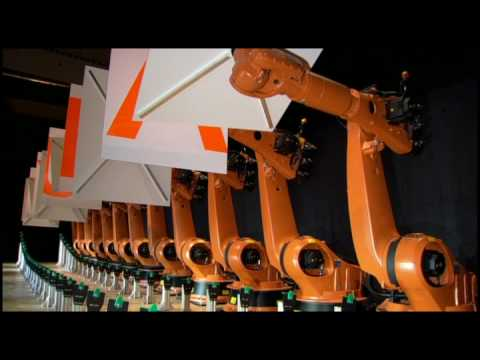 Synchronized dancing industrial robots Music Videos