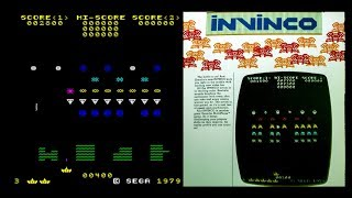 Invinco Arcade Game - Sega Space Invaders Knock Off! Gameplay Footage