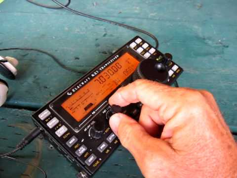 KX3 Prototype - Adjusting Bandpass DSP filter during CW QSO