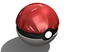 SolidWorks Tutorial #149: Poke Ball  (3parts & assembly)