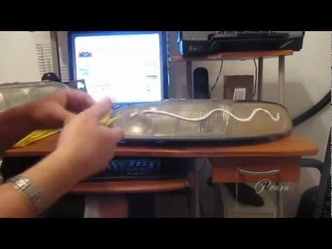 Как отполировать фары своими руками зубной пастой видео
