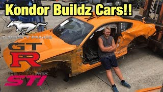 Checking Out Kondor Buildz Totaled Wrecked 2017 Nissan GTR, 2018 Mustang GT, 2015 STI Copart Auction