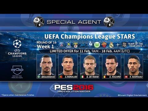 PES 2016 - MY CLUB #26: Ball Opening Incrível UEFA Champions League Stars