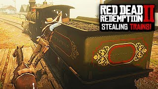 STEALING THE TRAIN IN RED DEAD REDEMPTION 2
