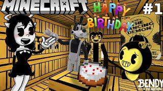 BENDY'S BIRTHDAY PARTY IN MINECRAFT! [Bendy Minecraft Adventures #1]