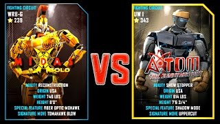 REAL STEEL WRB MIDAS GOLD (CHAMPION)(239) VS Atom (343) New Robots UPDATE (Живая сталь)