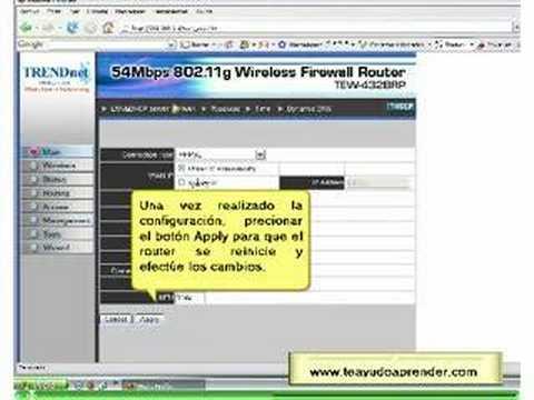Aprende configurar tu router TRENDnet