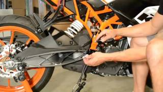 KTM RC390 Rear Sets Install