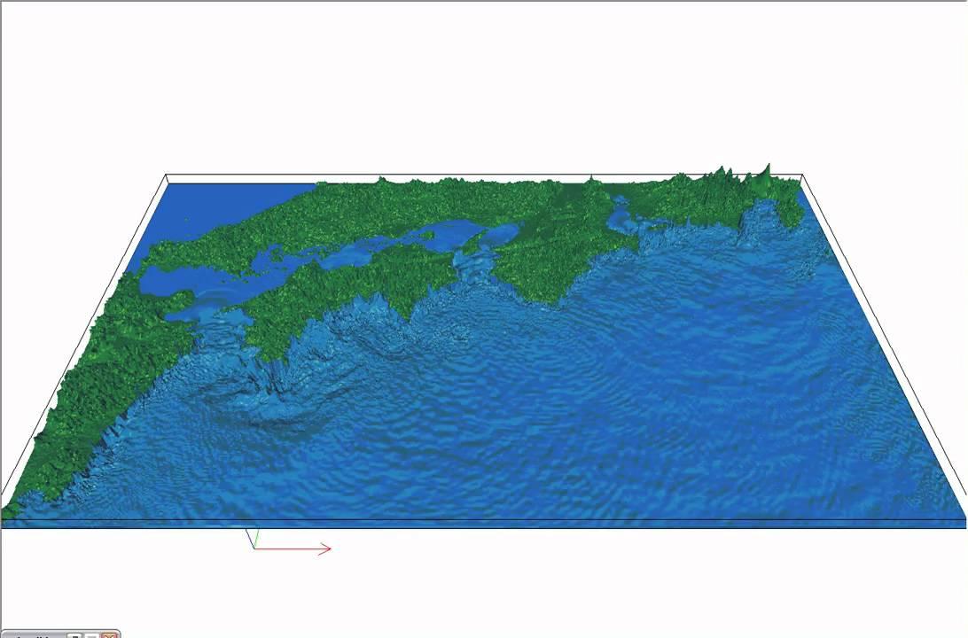KKEchannel 宝永地震による津波シミュレーション Tsunami Simulatio..