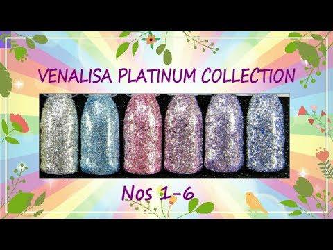 Canni Venalisa Platinum Glitter Gel Swatches - SPARKLY!