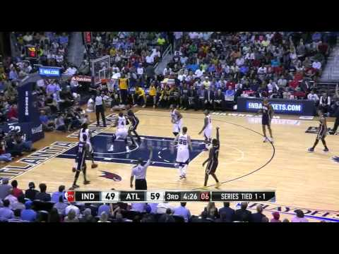 NBA, playoff 2014, Pacers vs. Hawks, Round 1, Game 3, Move 33, Ian Mahinmi, 2 pointer