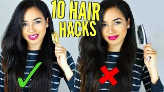 TOP TEN HACKS FOR STRAIGHTENED HAIR - NO DAMAGE