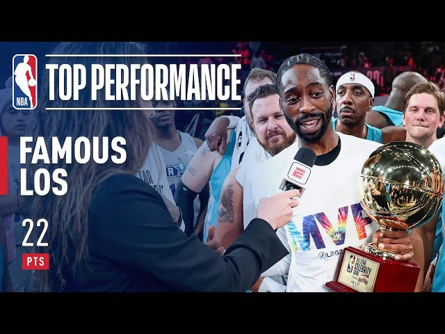 Famous Los Takes Home The 2019 NBA Celebrity Game MVP! | February 15, 2019