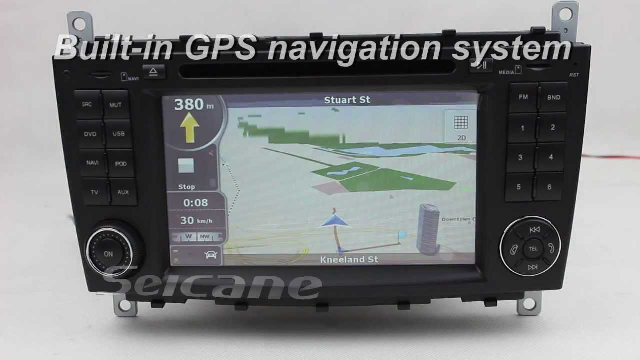 Mercedes benz c class w203 stereo specialized gps for Mercedes benz gps