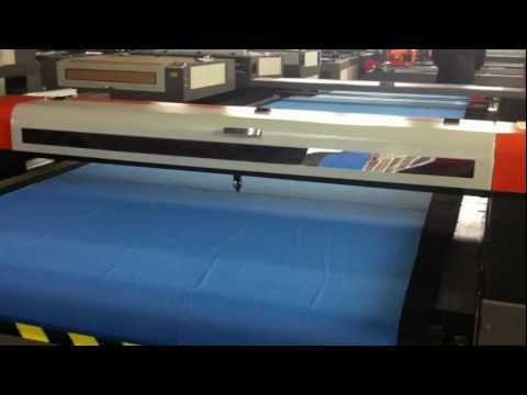 1630 auto feeding laser cutting machine for fabric textile, China fabric laser cutter