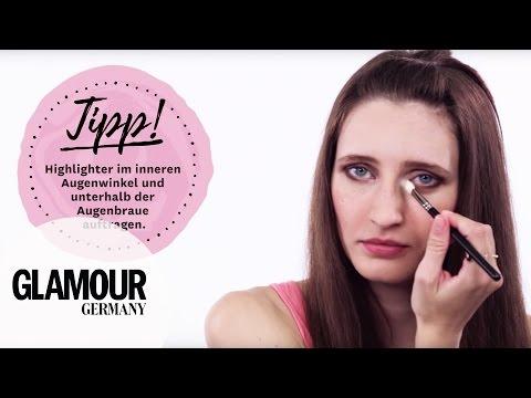 how to: Augen größer schminken / Augen richtig schminken I Tipps & Tricks I GLAMOUR Beauty Tutorial