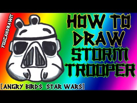 How To Draw Stormtrooper Pig from Angry Birds Star Wars ✎ YouCanDrawIt ツ 1080p HD