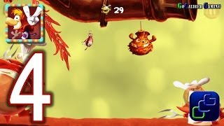 RAYMAN Fiesta Run Android Walkthrough - Part 4 - Level 11-14  PERFECT 100%  w/ invaded
