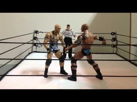 WWE - the rock vs. ryback full match (stop motion)
