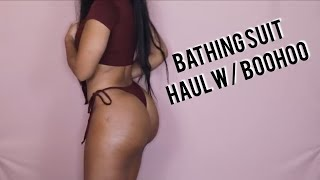 BATHING SUIT HAUL FOR VACATION w/ BOOHOO.COM