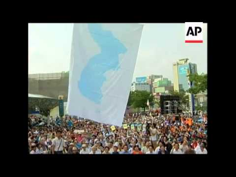 Over 1500 rally for reunification of the Korean peninsula