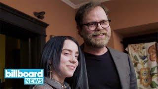 Billie Eilish Gets Quizzed On 'The Office' Trivia by Rainn Wilson   Billboard News