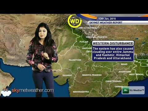 13/01/15 - Skymet Weather Report for India
